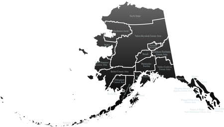 alaska map: Alaska Map Illustration