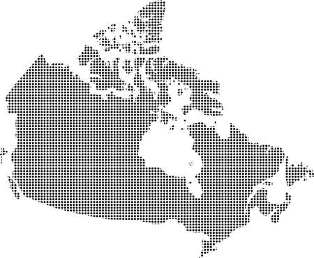 dotted: Dotted map of Canada