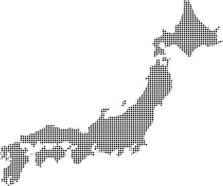 shikoku: Dotted Japan map