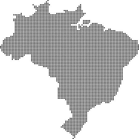 dotted: Dotted map of Brazil