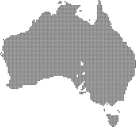 dotted: Dotted map of Australia