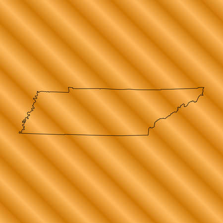 tennessee: Tennessee map Illustration