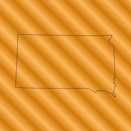 dakota: south dakota map Illustration
