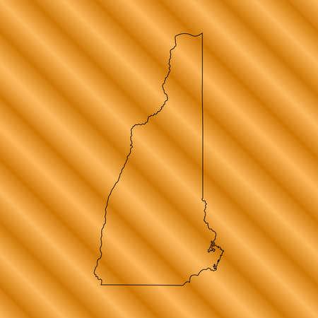 orange county: new Hampshire Map