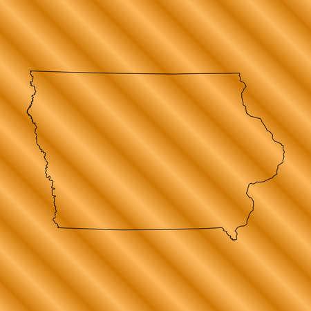 orange county: Iowa Map