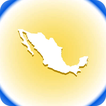 Mexico  Map Vector illustration.