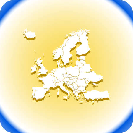 High detailed Europe Map Vector illustration.