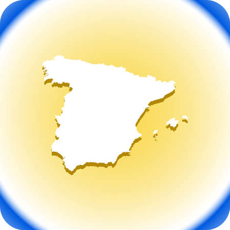 map of Spain Vector illustration.