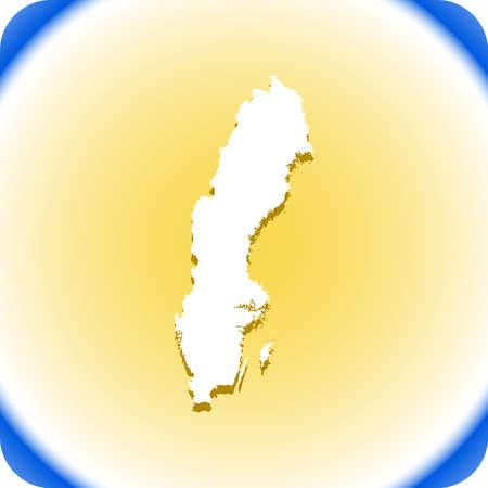 Map of Sweden Иллюстрация