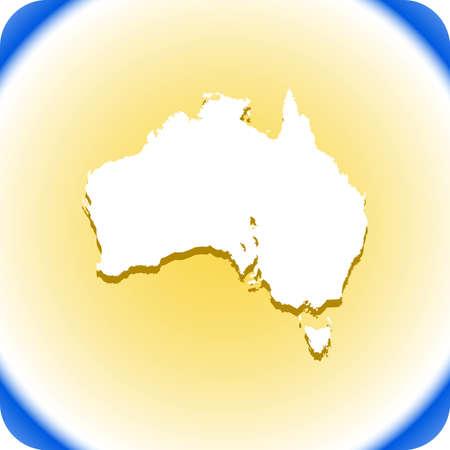 Australia Map Иллюстрация