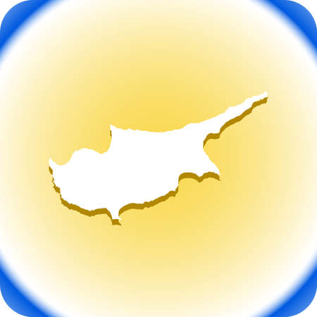 vector map of cyprus