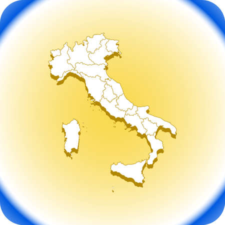 Map of Italy. Illustration