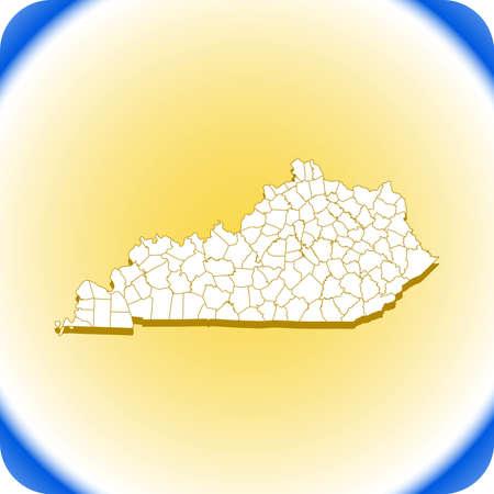 map of Kentucky.vector illustration