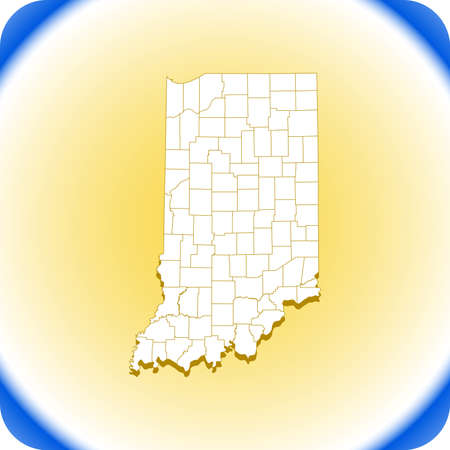 map of Indiana. vector illustration