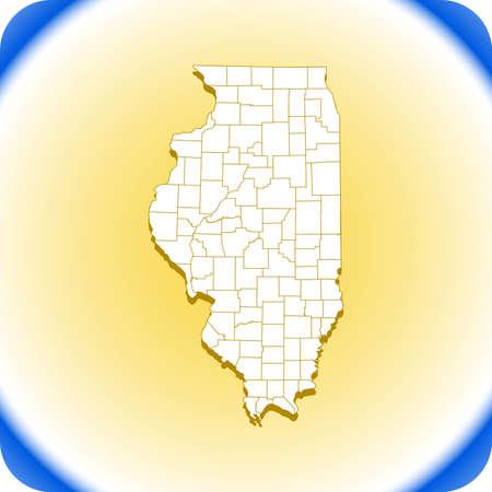 map of Illinois.vector illustration Иллюстрация