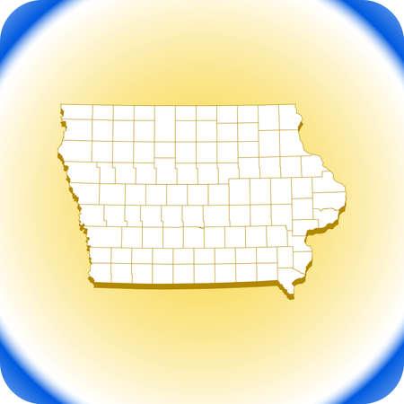 map of Iowa. vector illustration