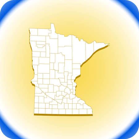 map of Minnesota. vector illustration