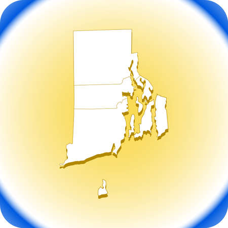 map - Rhode Island. vector illustration