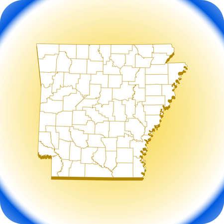 map of Arkansas.vector illustration