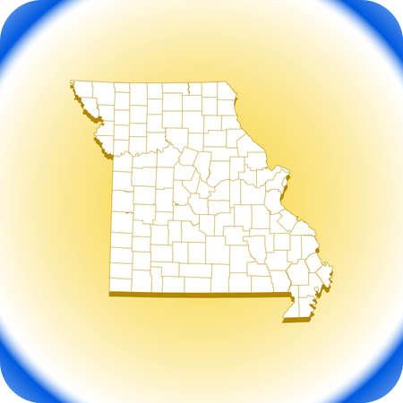 map of Missouri. vector illustration