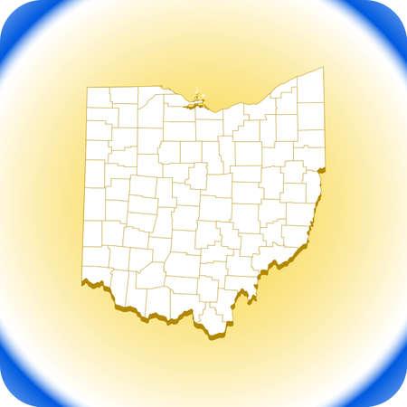 map of Ohio. vector illustration