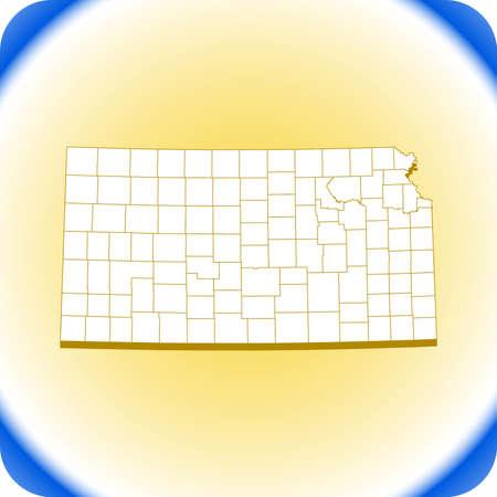 map of Kansas. vector illustration Иллюстрация