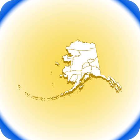 map of Alaska. vector illustration