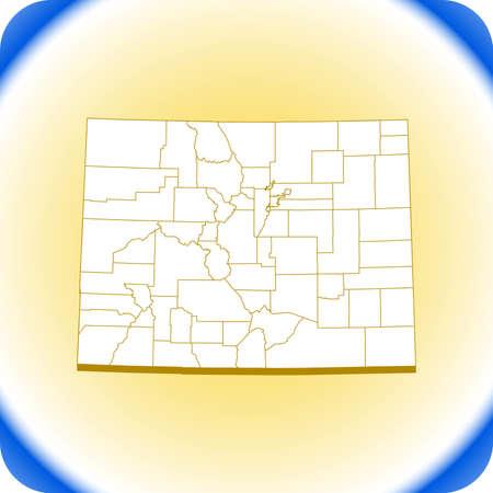 map of Colorado. vector illustration