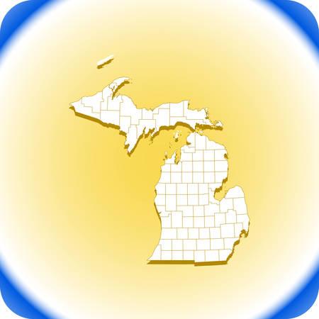 map of Michigan. Vector illustration