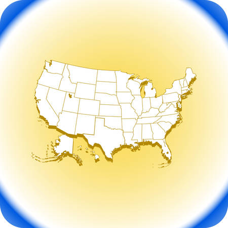 Map of USA . Vector illustration.