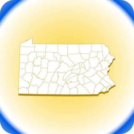 map of Pennsylvania. vector illustration Иллюстрация