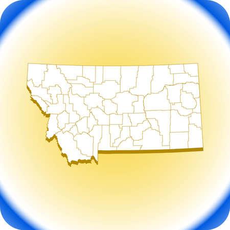 map of Montana. vector illustration