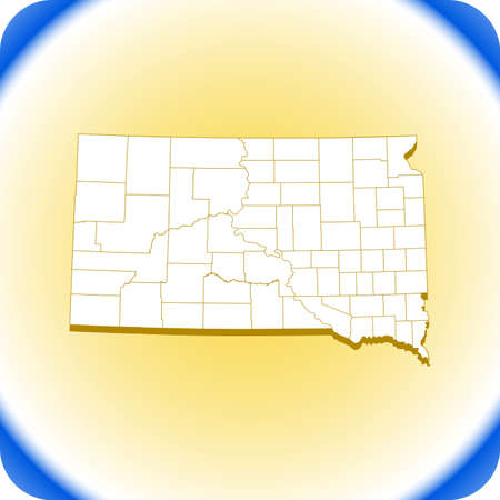 map of South Dakota. vector illustration Иллюстрация