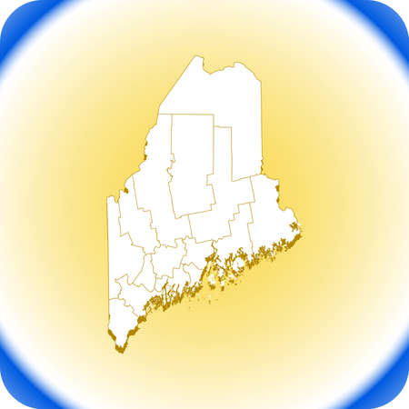 map of Maine. vector illustration