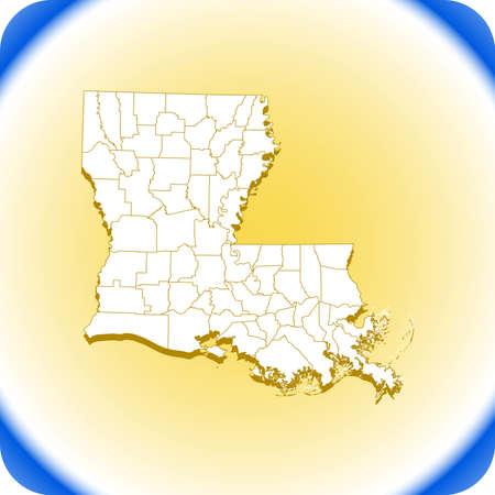 map of Louisiana.vector illustration