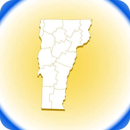 map of Vermont Иллюстрация