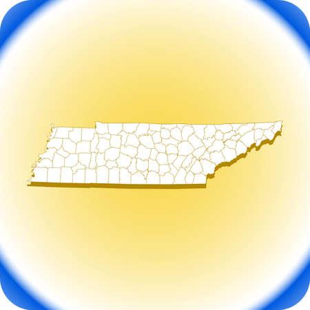 map of Tennessee Иллюстрация