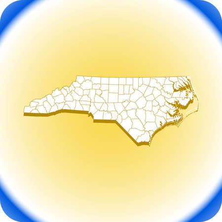 map of North Carolina Иллюстрация