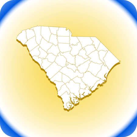 map of South Carolina Иллюстрация