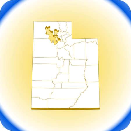 map of Utah Иллюстрация
