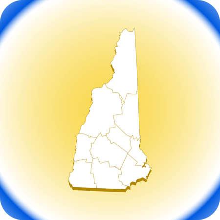 map of New Hampshire Иллюстрация