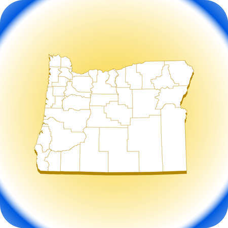 map of Oregon Иллюстрация