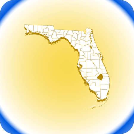 map of Florida Иллюстрация