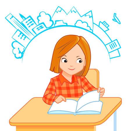 children studying: School children in classroom at lesson