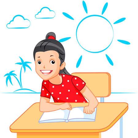 school classroom: School children in classroom at lesson