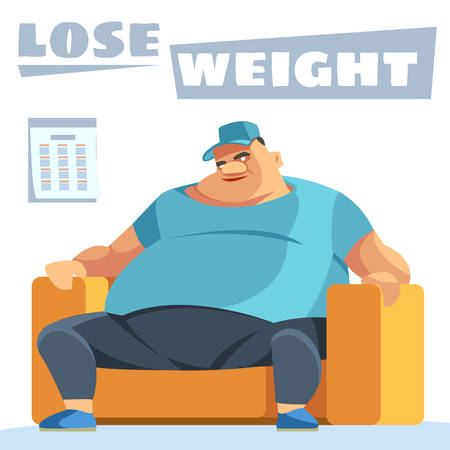 Lose weight. Junk meal leads to obesity. Person regularly overeats concept. Health care concept.