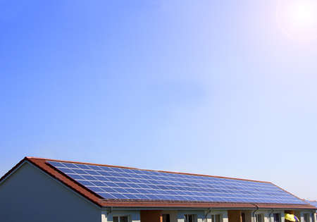 photovoltaic, solar cell on the roof