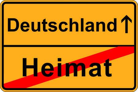 emigranti: Lascia patria ed emigrare in Germania Vettoriali