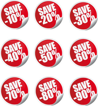 promotional offer: Discount label and sticker  Illustration