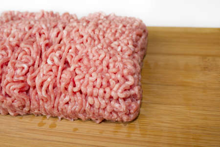 minced meat on a cutting board